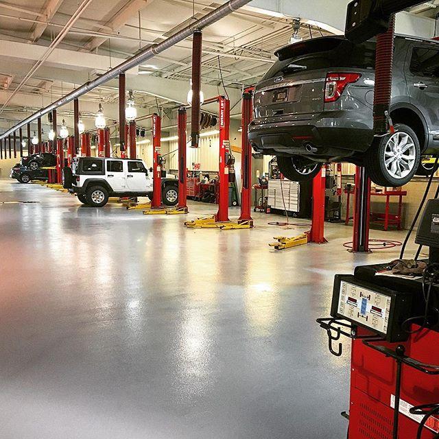 industrial flooring for car repair operations