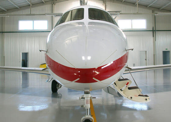 epoxy flooring contractor for hangar