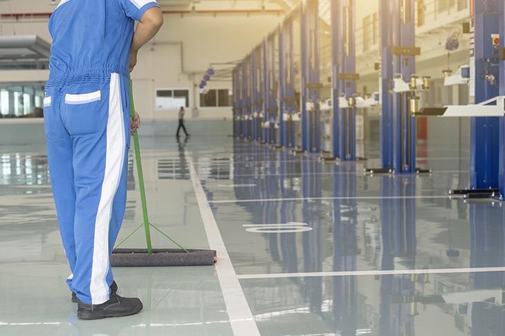 low maintenance epoxy flooring