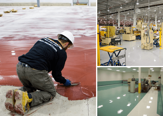 Industrial epoxy flooring montage