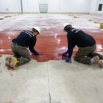 industrial epoxy floor coating installation