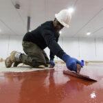 installing industrial epoxy floor coating
