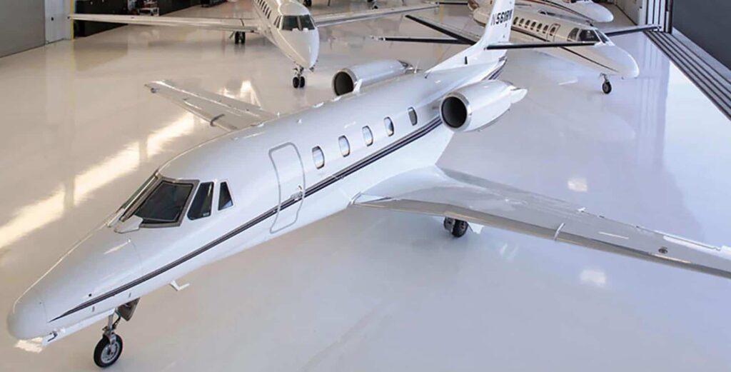 airplane hangar epoxy flooring