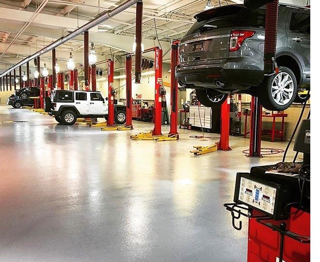 flooring for car repair shops